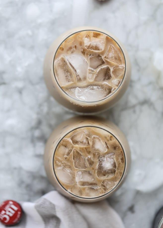 root beer rum creams I howsweeteats.com #rootbeer #cocktails #baileys #irishcream #rum