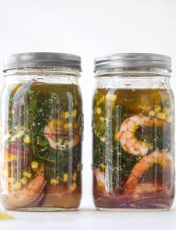 pickled shrimp avocado salad I howsweeteats.com #pickledshrimp #seafood #avocado #salad #kentuckyderby