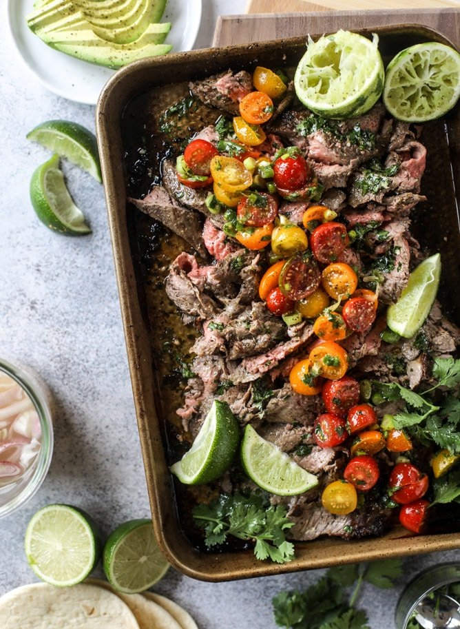 cilantro lime flank steak I howsweeteats.com #flank #steak #recipe #cilantro #lime