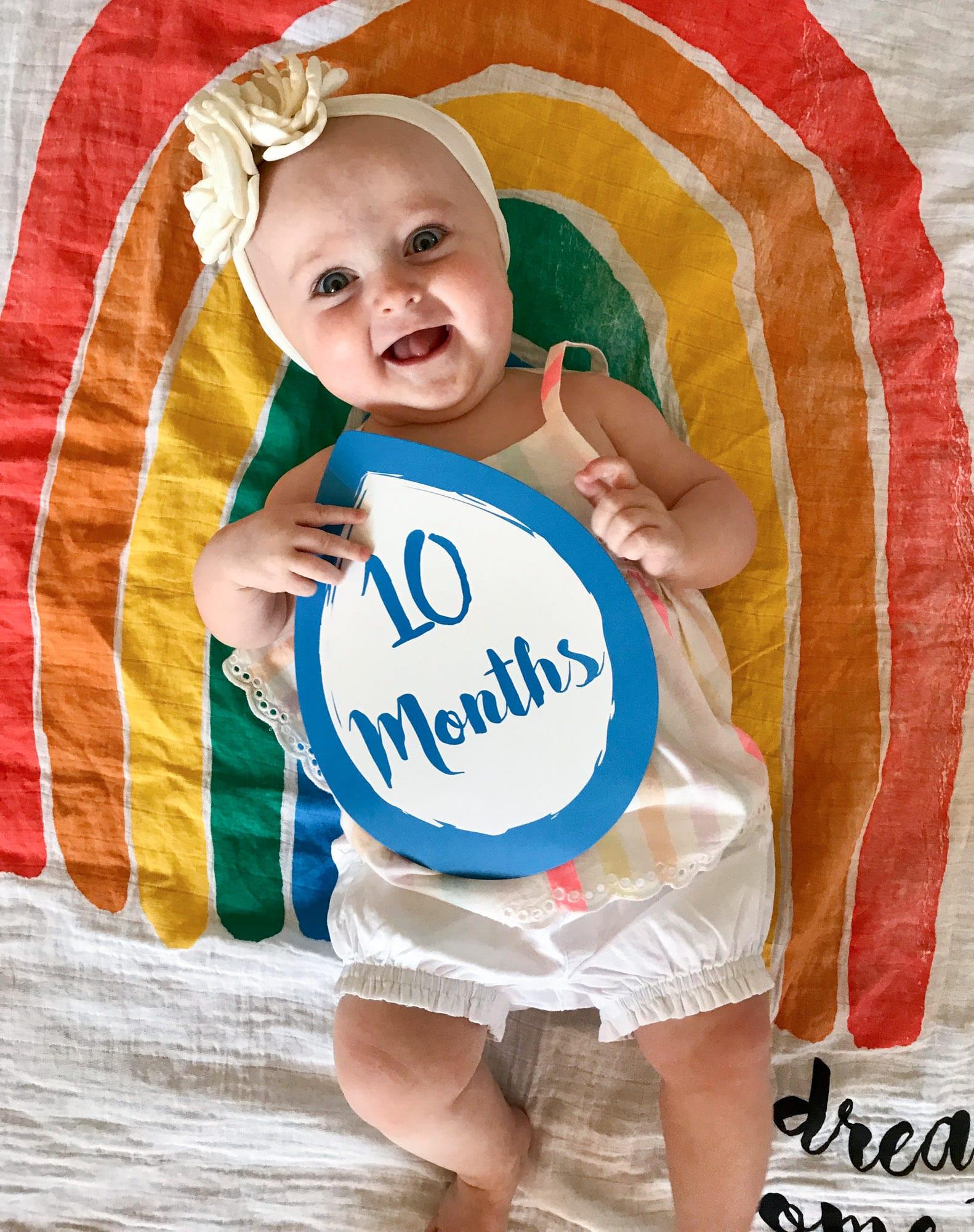 emilia at 10 months I howsweeteats.com