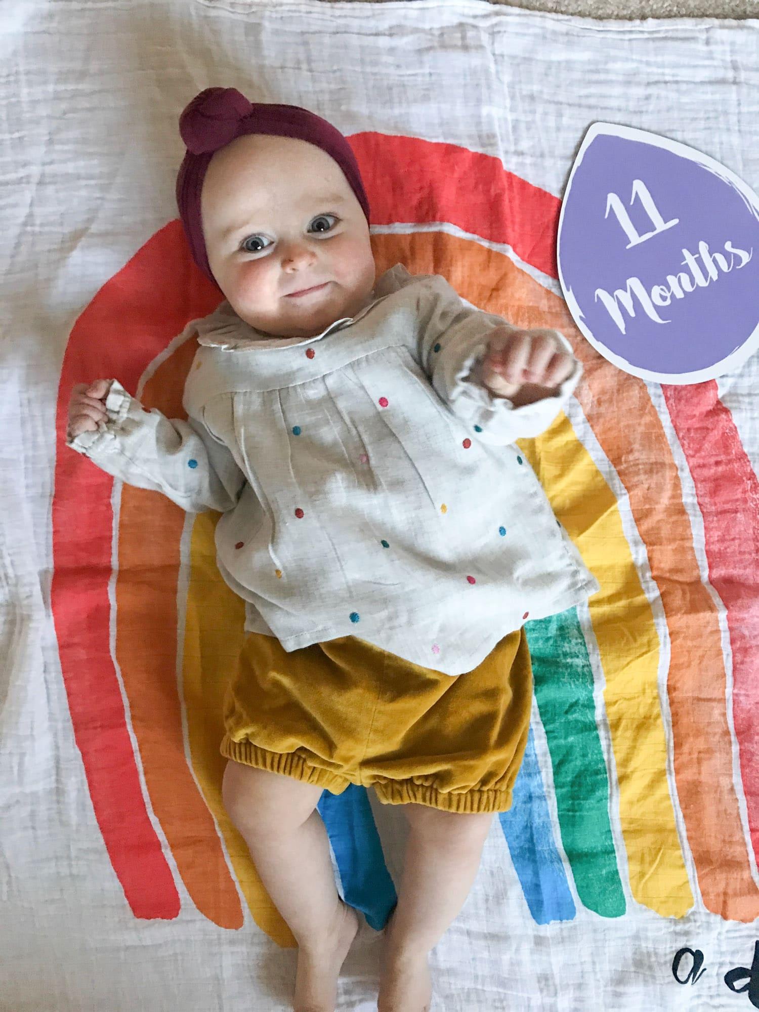 emilia at eleven months I howsweeteats.com