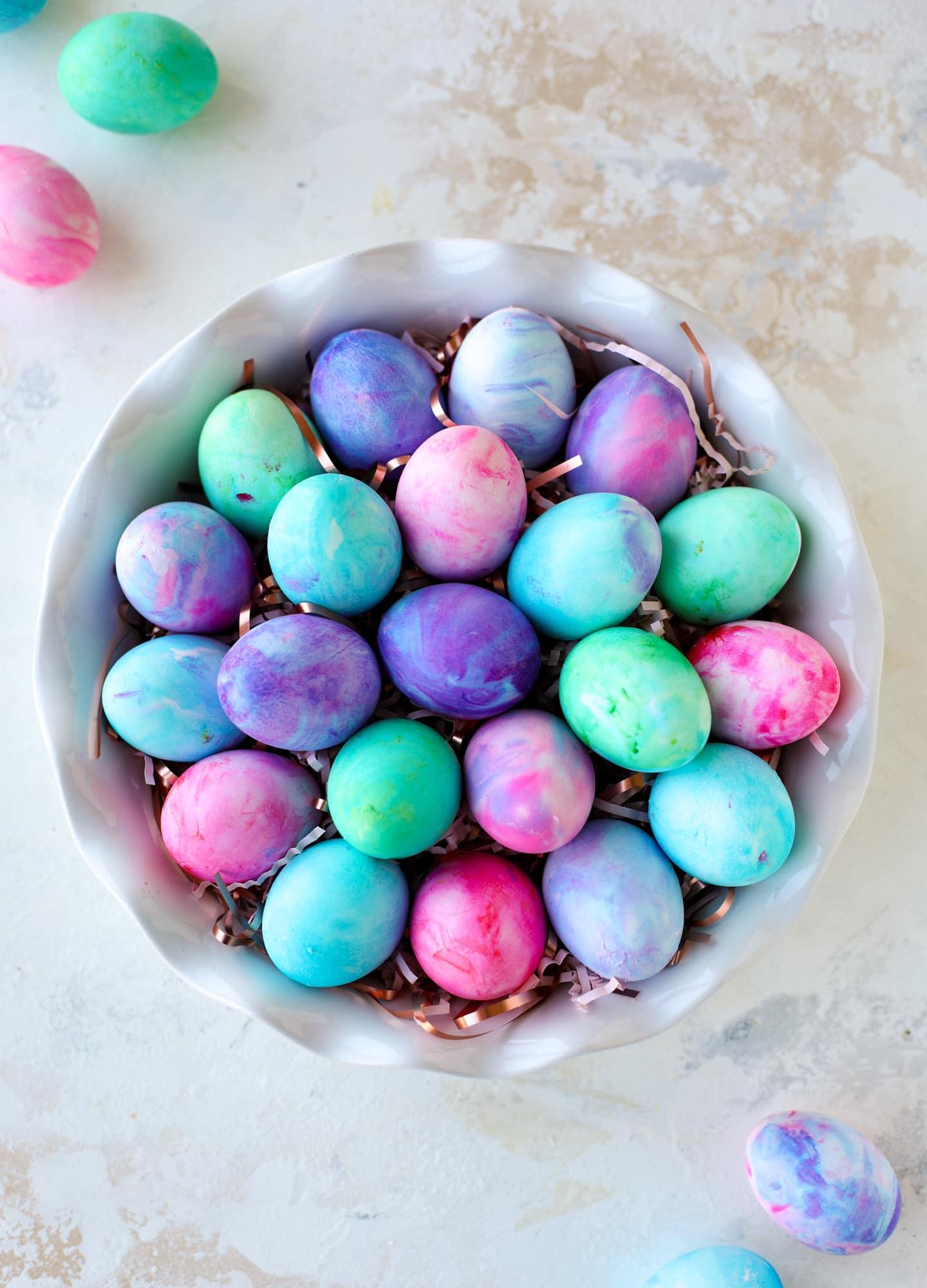 prettiest easter eggs I howsweeteats.com