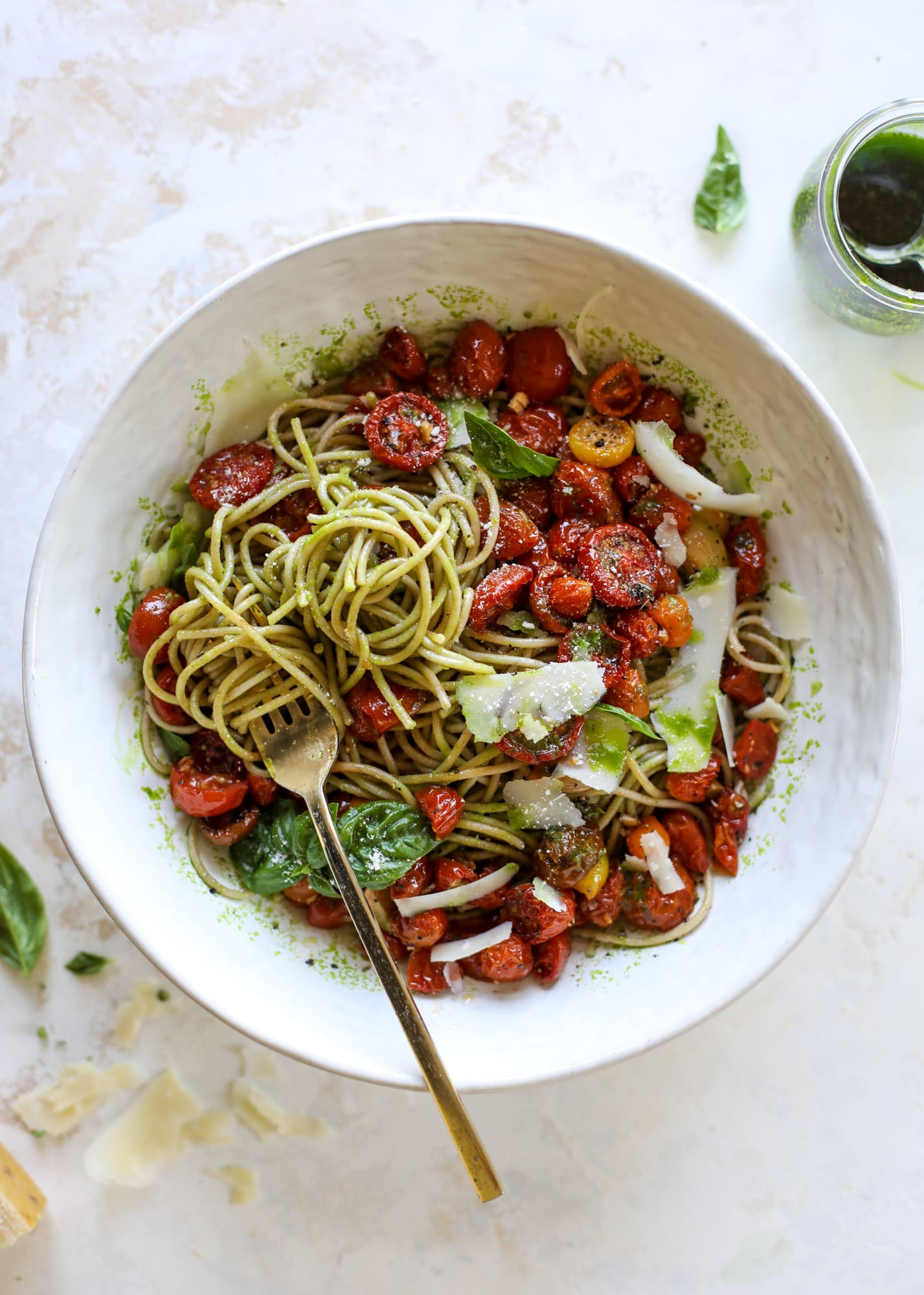 Slow Roasted Tomato Basil Pasta.