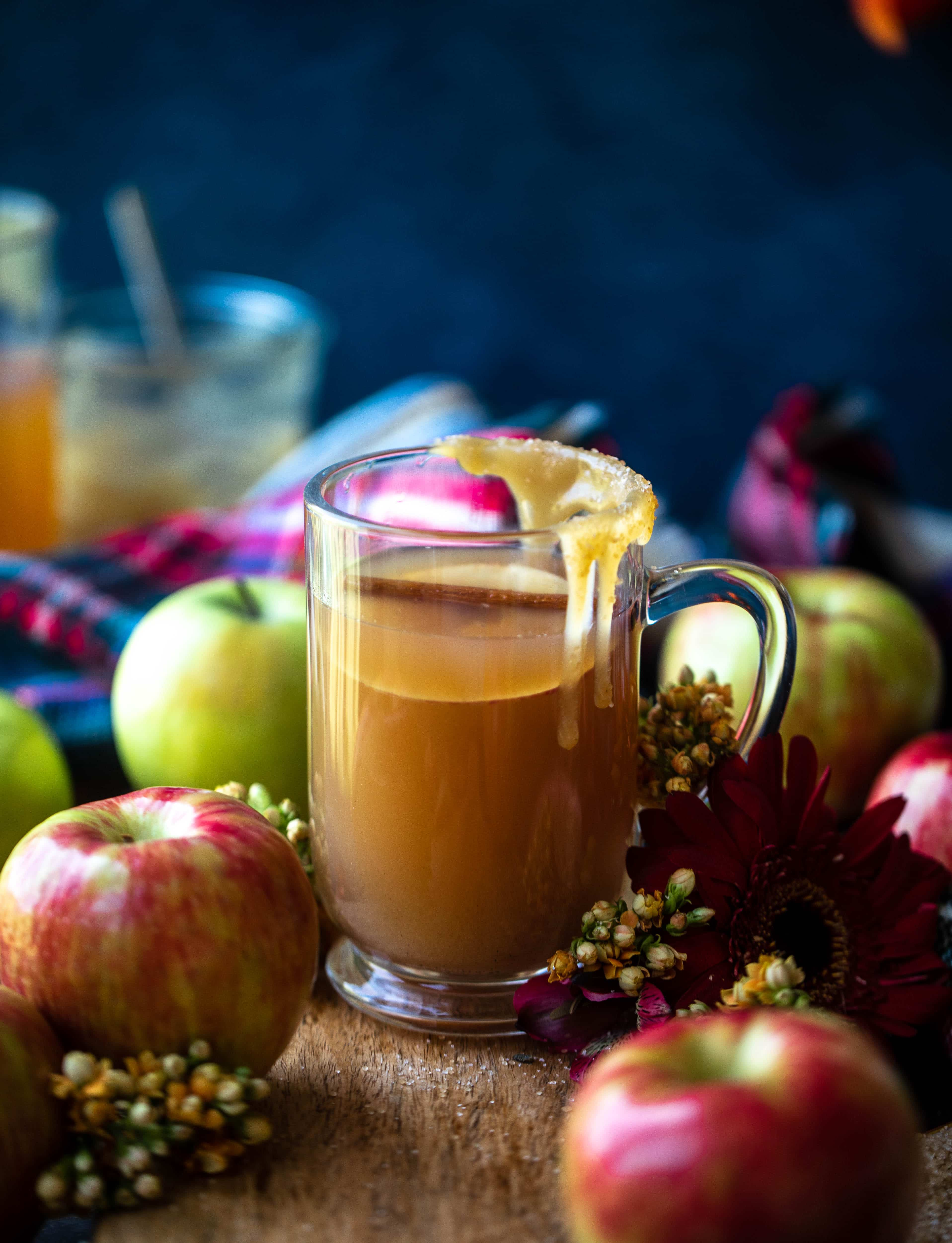 This homemade apple cider is made with honeycrisp apples, spices and vanilla. It's incredible served hot or cold, especially with a pour of bourbon!