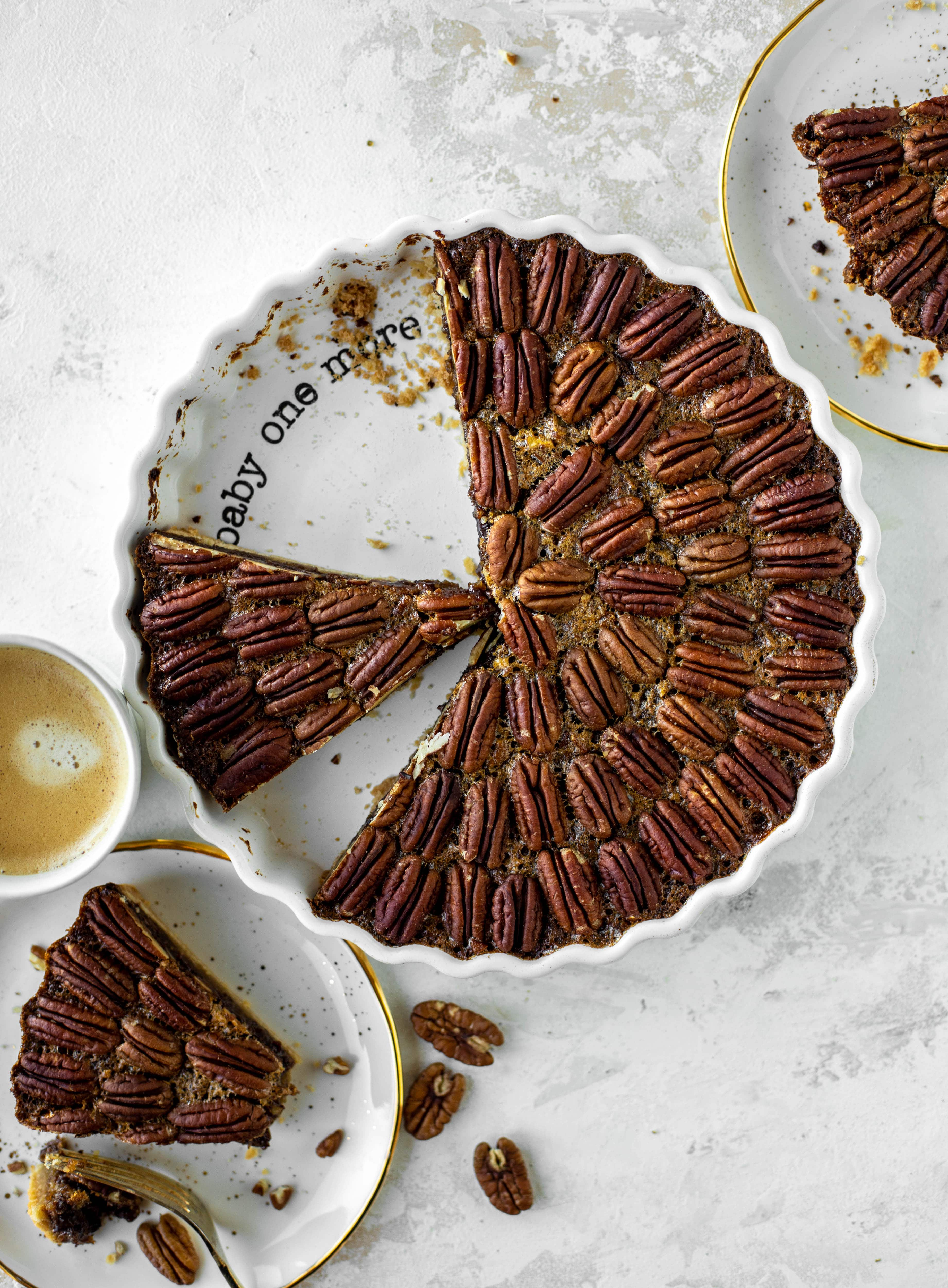 This chocolate pecan tart is the best dessert ever. Chocolate fudge and gooey pecan pie in a shortbread crust - everyone goes crazy!