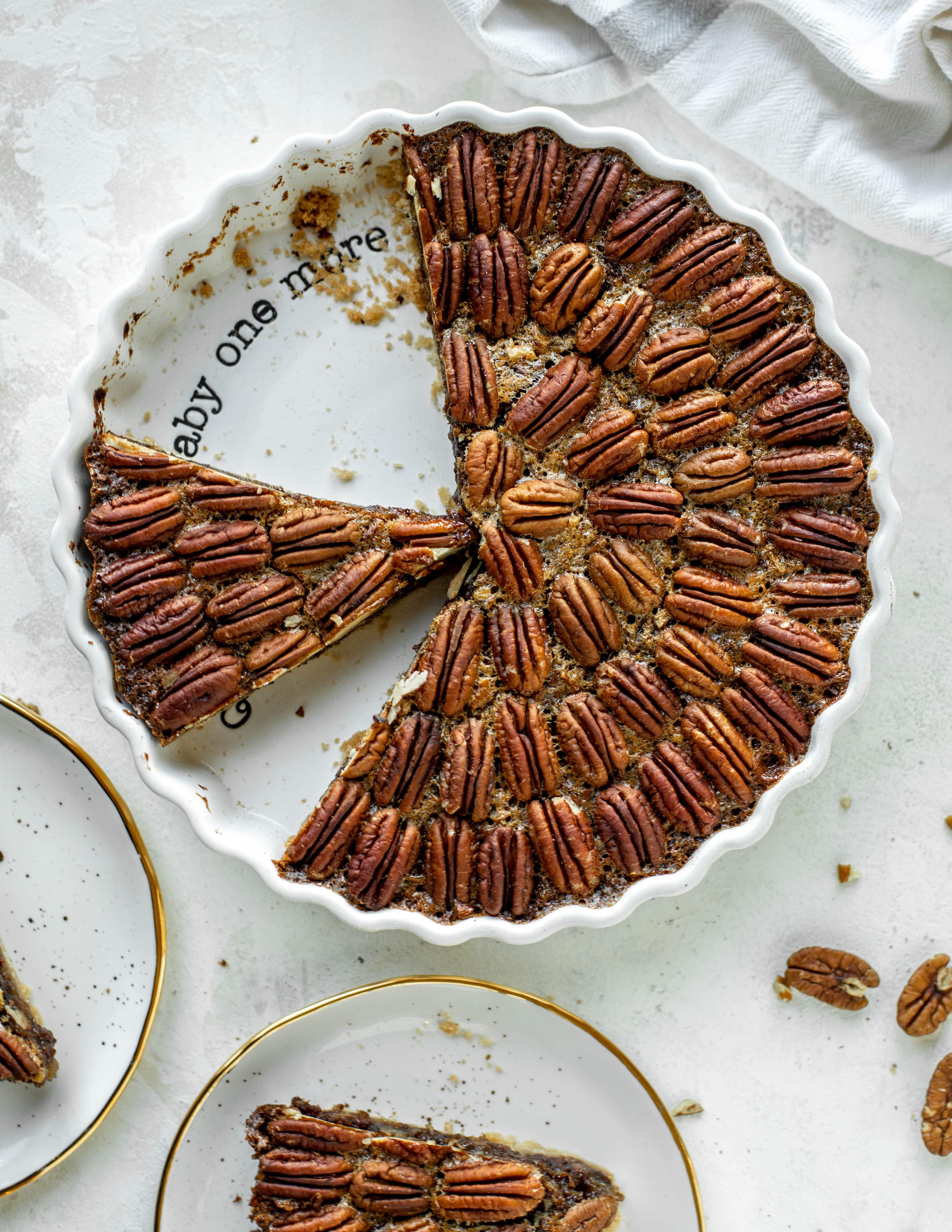 Chocolate Fudge Pecan Pie Tart.