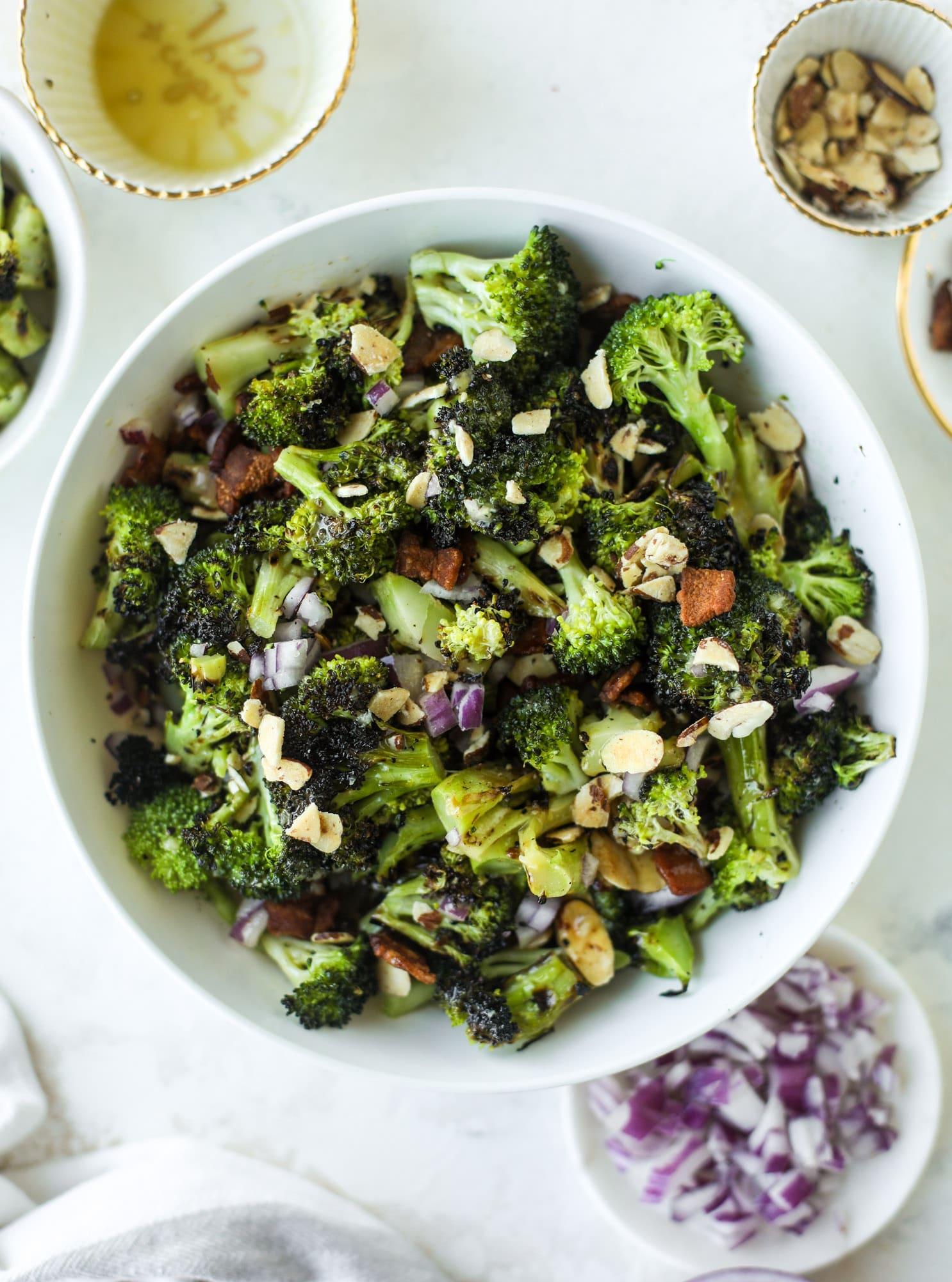 grilled broccoli crunch salad