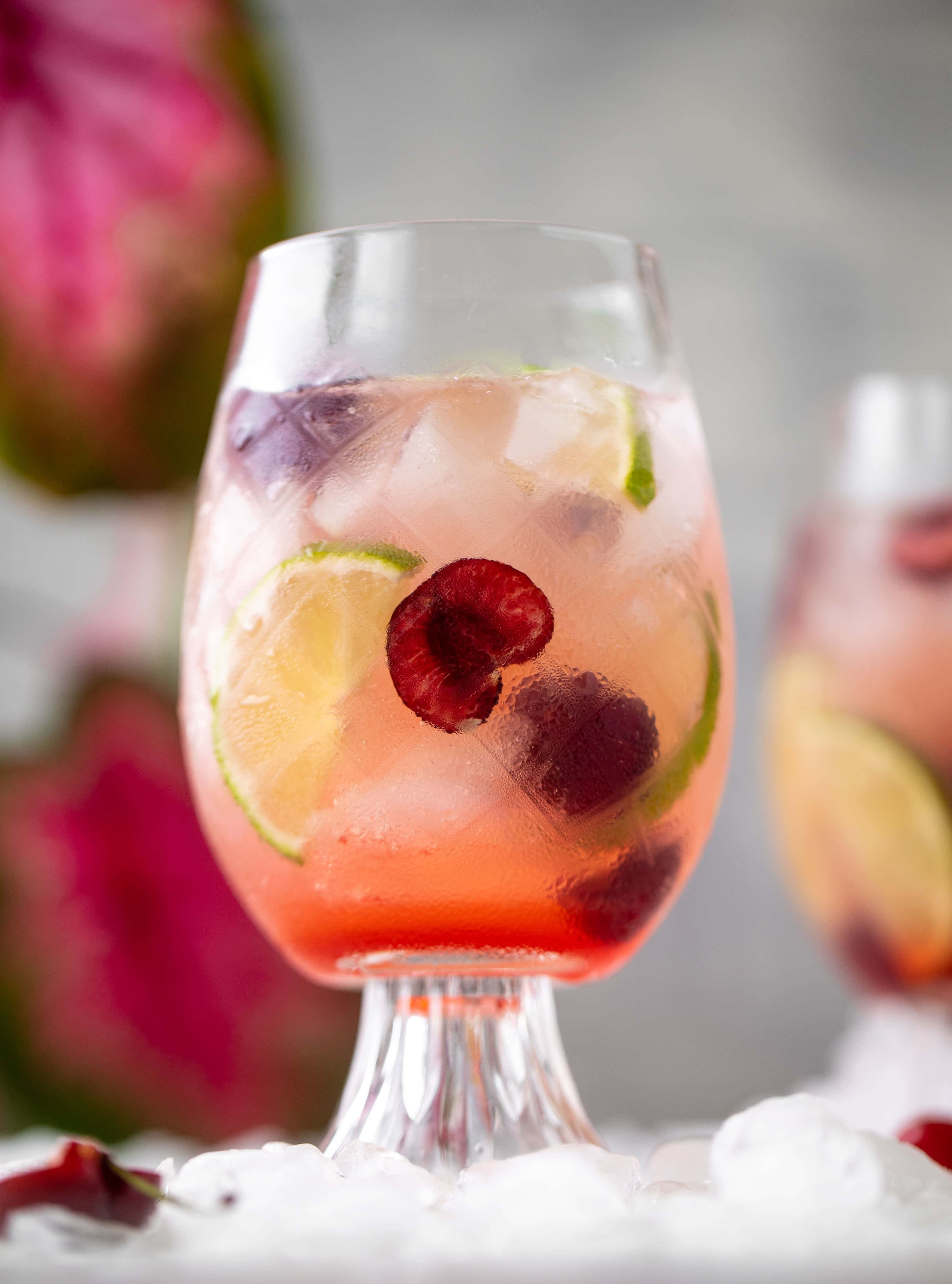 cherry lime gin and tonic