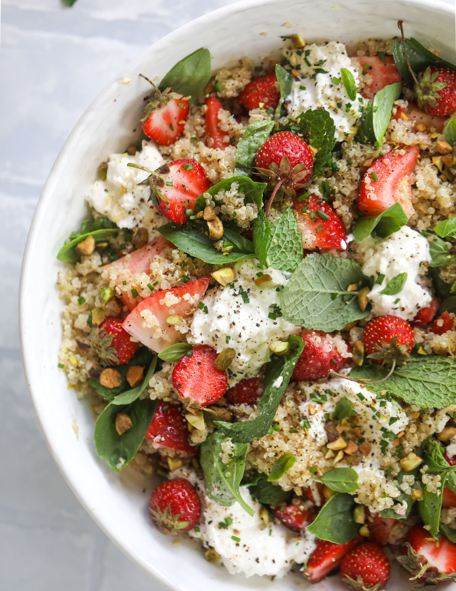 strawberry quinoa salad + 23 mother's day recipes