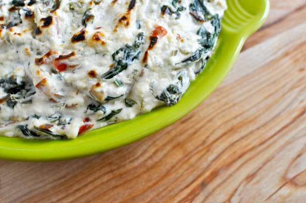 Kicked-Up Spinach Dip I howsweeteats.com