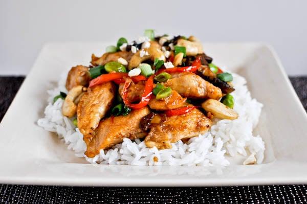 cashew chicken I howsweeteats.com