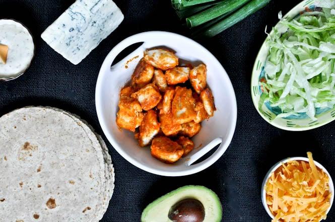Buffalo Chicken Tacos I howsweeteats.com