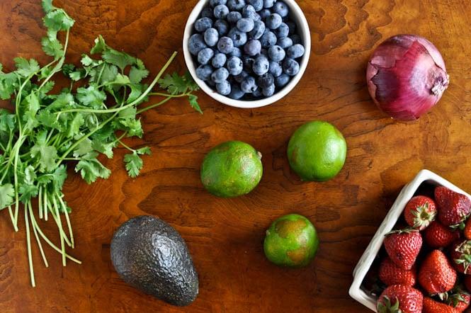 Blueberry Lime Salsa I howsweeteats.com
