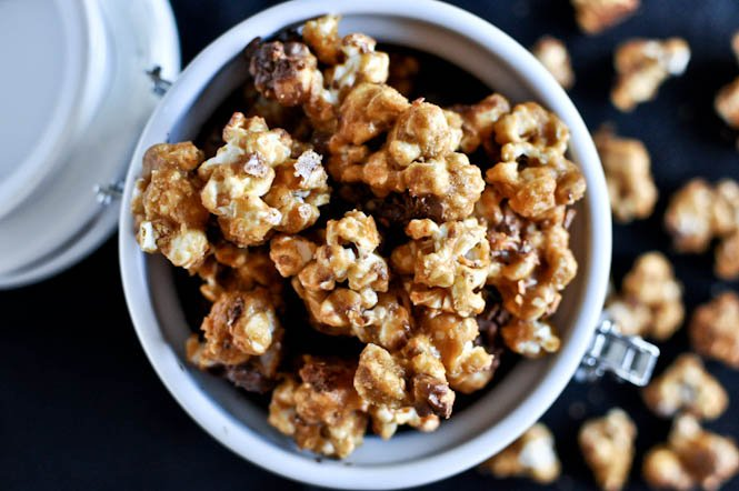 Candy Bar Popcorn | Halloween Treats