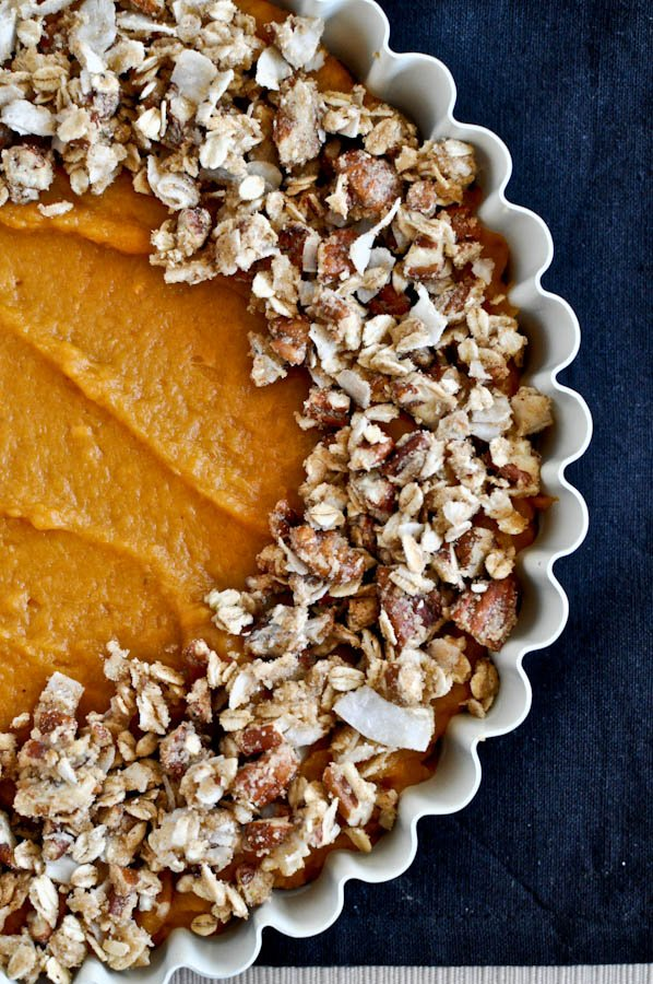 Lightened-Up Sweet Potato Casserole I howsweeteats.com