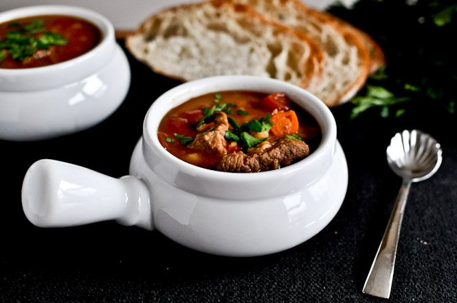Beef and Barley Soup I howsweeteats.com