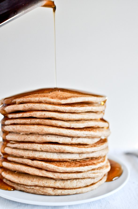 Greek Yogurt Pancakes I howsweeteats.com