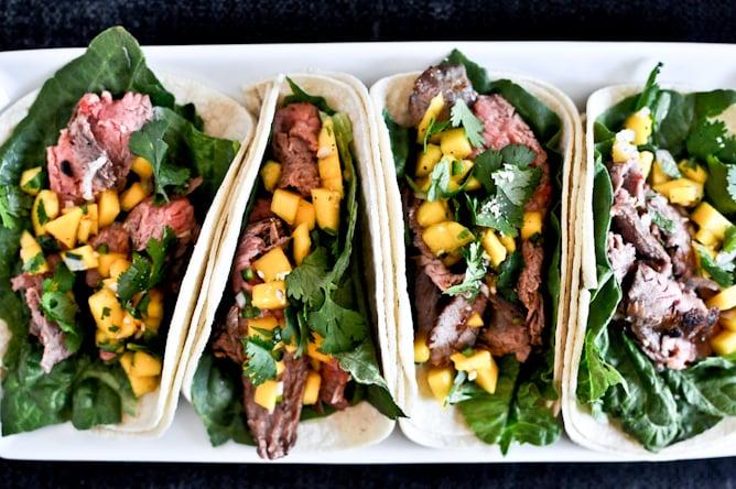 Thai Beef Tacos I howsweeteats.com