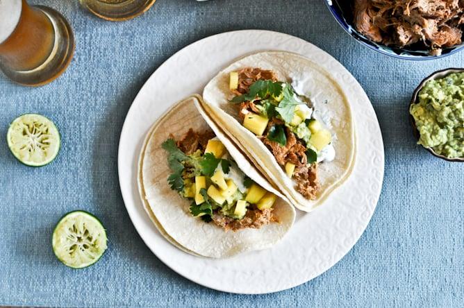 Crockpot Beer Carnitas Tacos I howsweeteats.com
