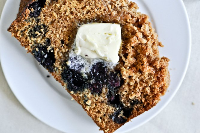 Whole Wheat Blueberry Muffin Bread | How Sweet It Is