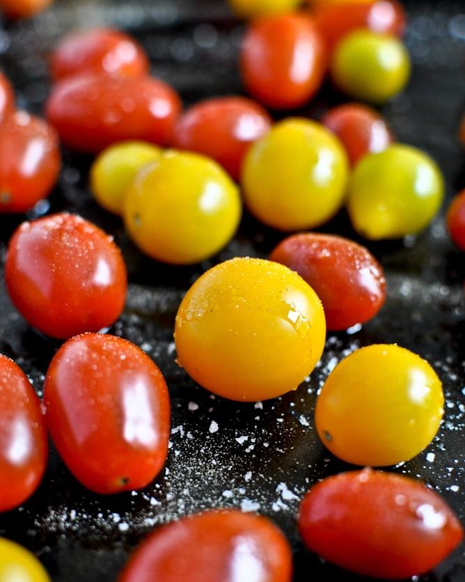 Roasted Tomato Caprese Panzanella I howsweeteats.com