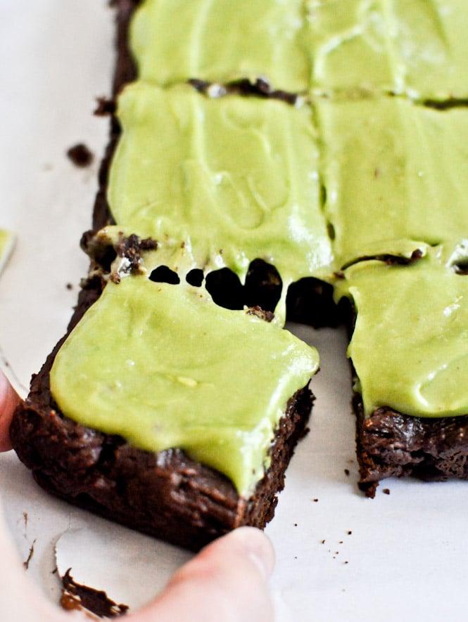 Fudgy Avocado Brownies I howsweeteats.com
