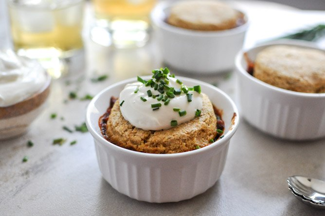 Three Bean Chili Pot Pies I howsweeteats.com