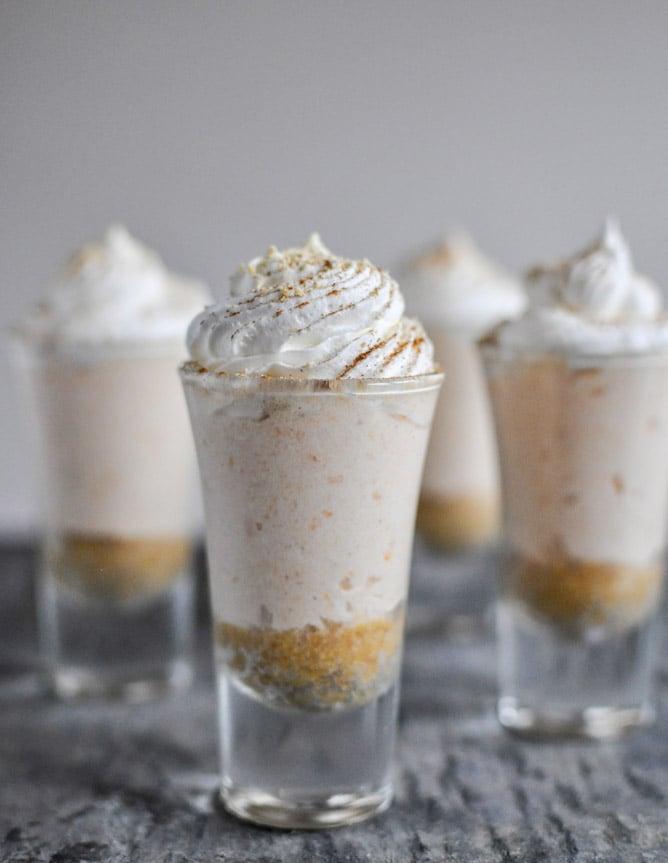 No-Bake Sweet Potato Cheesecakes I howsweeteats.com