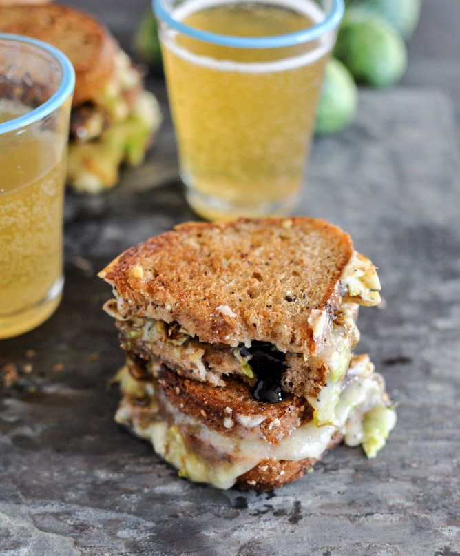 Balsamic Brussels Sprouts Grilled Cheese I howsweeteats.com