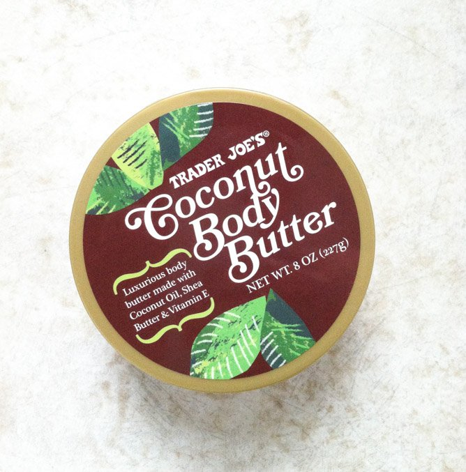 trader joe's coconut body butter I howsweeteats.com
