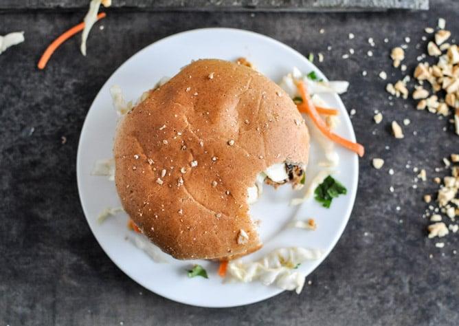Thai Turkey Burgers I howsweeteats.com