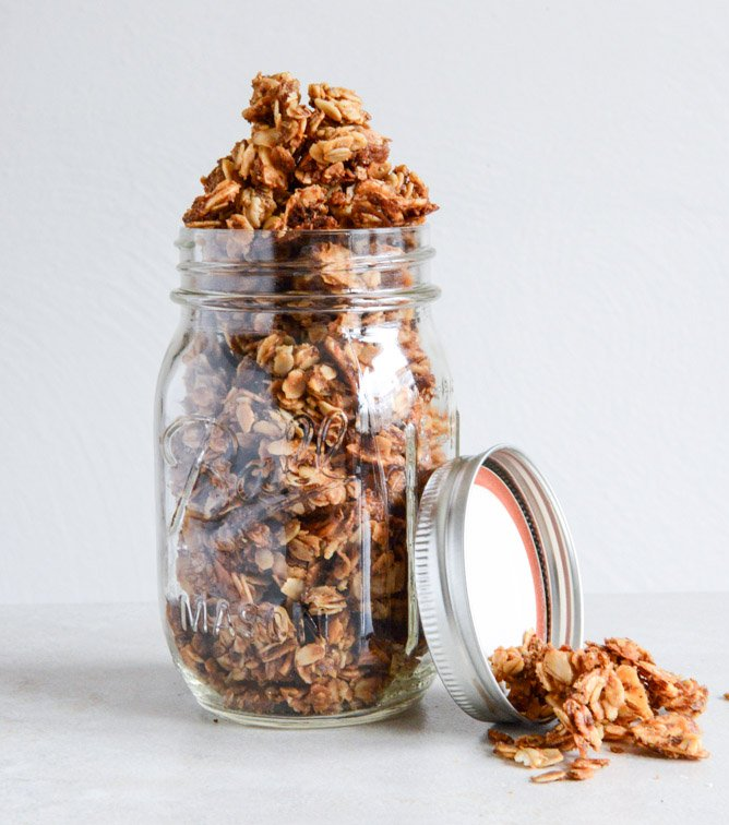 Coconut Butter Granola I howsweeteats.com