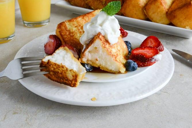 Angel Food French Toast I howsweeteats.com