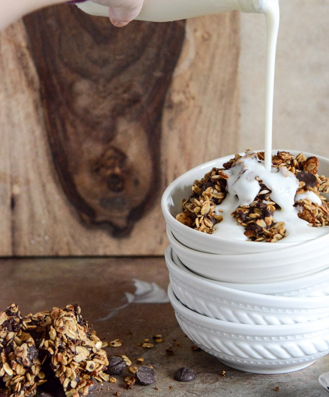 Crunchy Quinoa, Toasted Almond and Dark Chocolate Brown Butter Granola