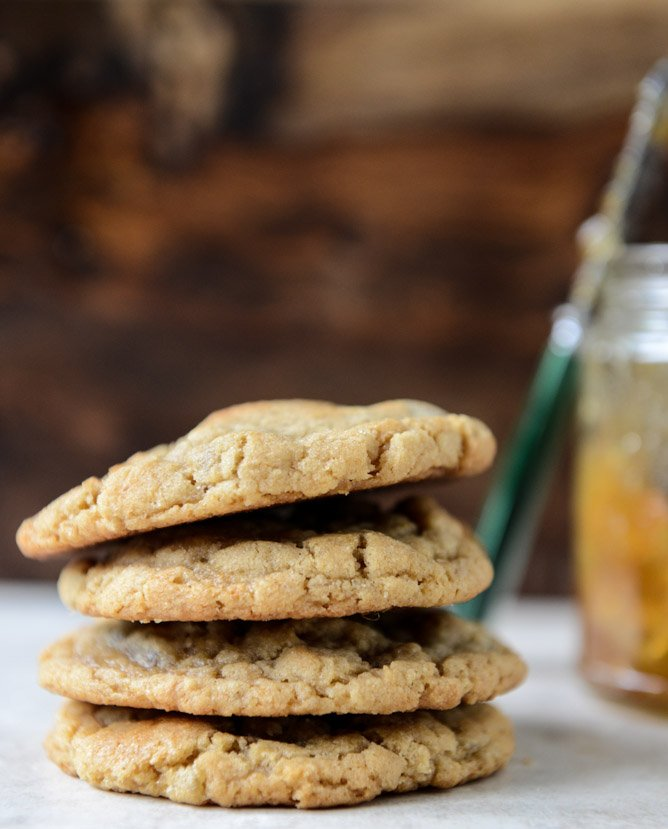 Peanut Butter Cookies with a Fig Preserves Swirl