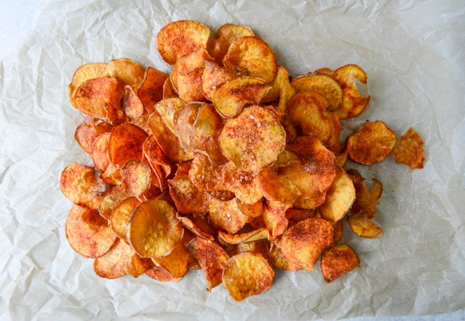 how to make sweet potato crisps at home