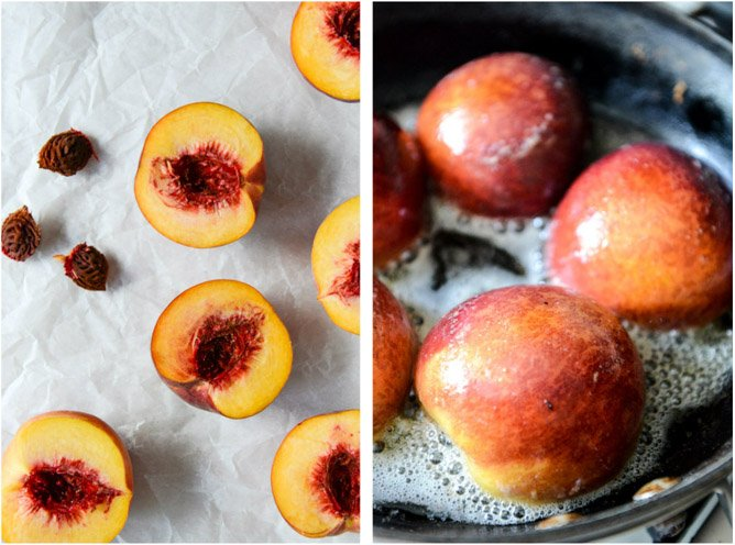 Caramelized Peaches + Cream with a Toasted Crumble I howsweeteats.com