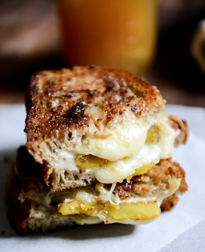 Caramelized Butternut, Roasted Garlic + Coconut Butter Grilled Cheese