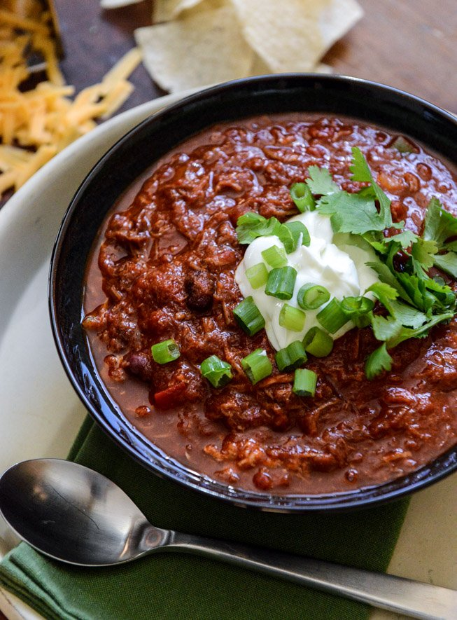 Crockpot Pulled Pork Chili.