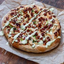 turkey bacon avocado ranch pizza I howsweeteats.com-1