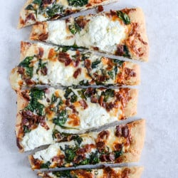white pizza spinach bacon I howsweeteats.com-4