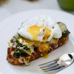 toast with poached egg I howsweeteats.com-3