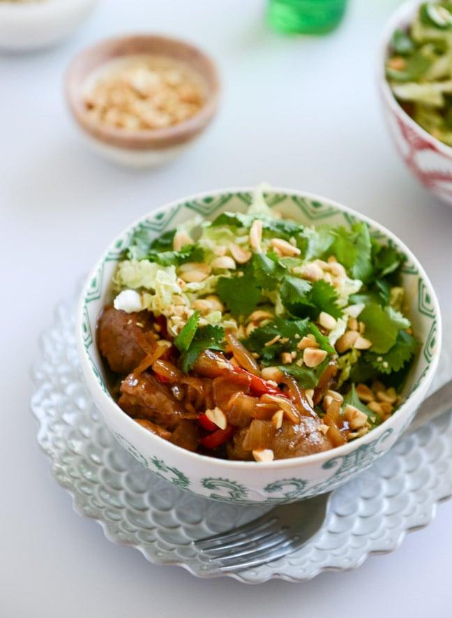 30 minute Vietnamese Caramel Pork Stir Fry I howsweeteats.com