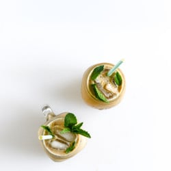 fresh mint iced coffee I howsweeteats.com-3