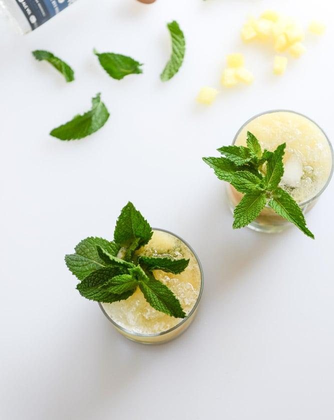 Pineapple Mint Juleps