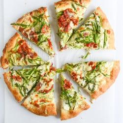 asparagus pizza I howsweeteats.com-2
