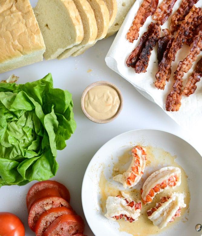 lobster BLTs I howsweeteats.com