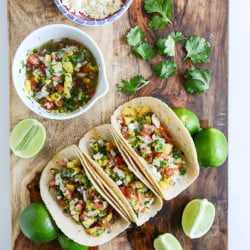 steak tacos with pineapple pico I howsweeteats.com-3