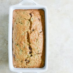 vegan coconut zucchini chocolate chip bread I howsweeteats.com