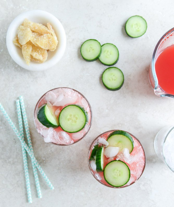 watermelon ginger sparklers I howsweeteats.com
